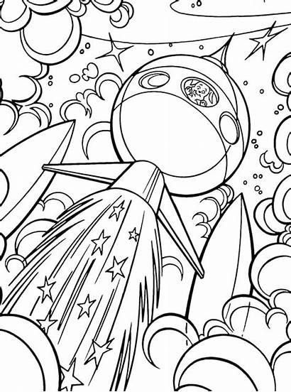 Space Coloring Pages Outer Dog Planets Getcoloringpages