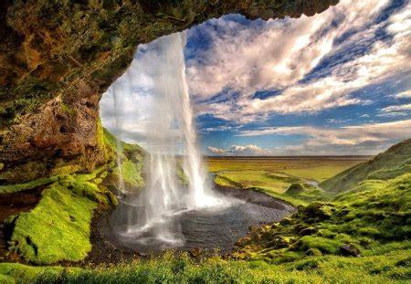waterfall waterfalls nature background wallpapers
