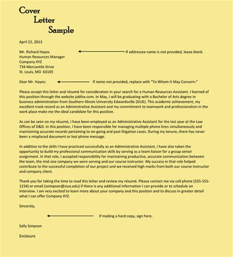 Entry Level Assistant Cover Letter by Administrative Assistant Cover Letter Exles 10 Formats