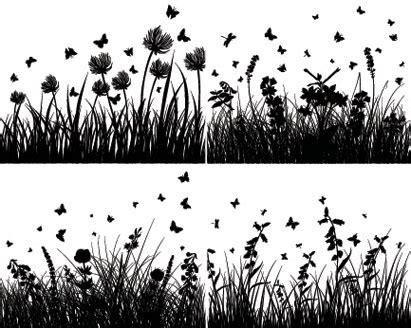 grass silhouette illustration vector ai svg eps vector