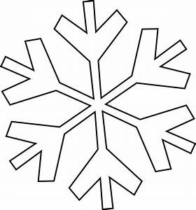 Snowflake Black And White Clip Art Images