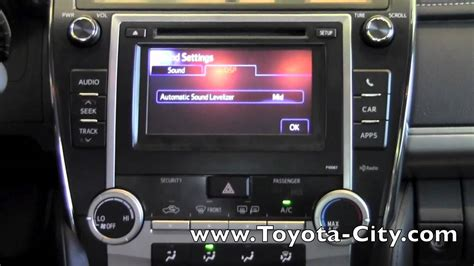 toyota camry basic audio features