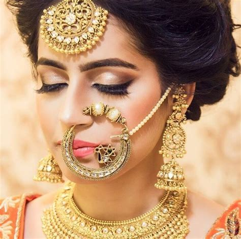 wedding nose ring beautiful bride by shubh31gill instagram south asian
