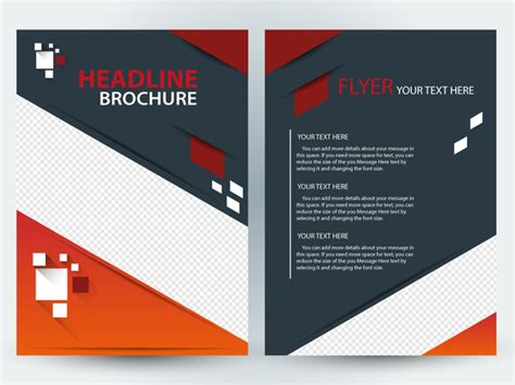Best Sermina Flyer Template Without Background by Flyer Brochure Template Design With Diagonal Illustration