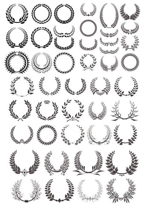 laurel wreath vector basic black collection  vector
