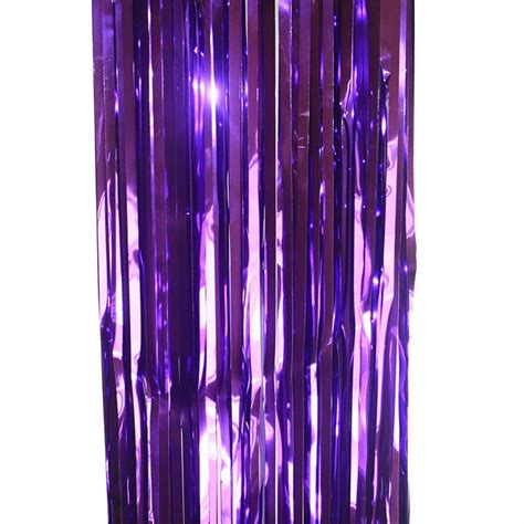 door curtain foil purple curtains hanging