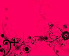 Hot Pink Floral Backgr...