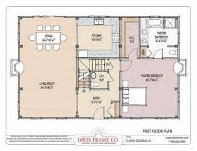 colonial floor plans barn house plans colonial layout 1a davis frame