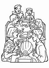 Coloring Dinner Together Drawing Diner Families Sketch Printable Getdrawings Getcolorings Template sketch template