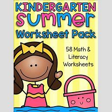 Summer Review Kindergarten Math And Literacy Worksheet Pack By My Teaching Pal