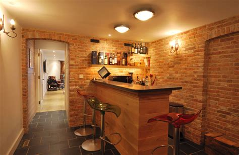 Home Bar Solutions by Barn Conversion With Basement Kent Uk Contemporary