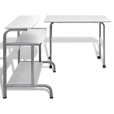 table pour ordinateur de bureau acheter table de bureau réglable blanche pour ordinateur