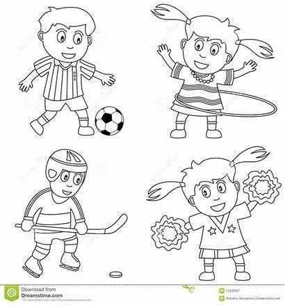 Coloring Playing Bambini Sports Soccer Coloritura Hula