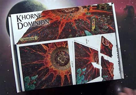 review new khorne dominion battle mat spikey bits
