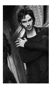 Black And White Photo Of Damon Salvatore Stefan Salvatore ...