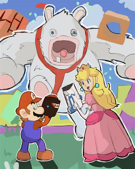 mario and rabbids kingdom battle e32017 by alsanya on deviantart
