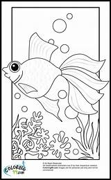Goldfish Coloring Pages Fish Printable Print Gold Colors Cartoon Getcoloringpages Teamcolors sketch template