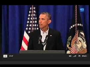 President Obama speaks about Ferguson Shooting of Mike ...