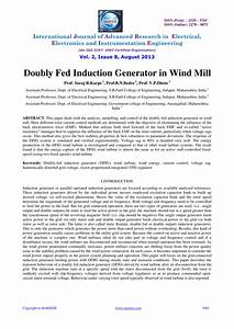 Pdf  Doubly Fed Induction Generator In Wind Mill