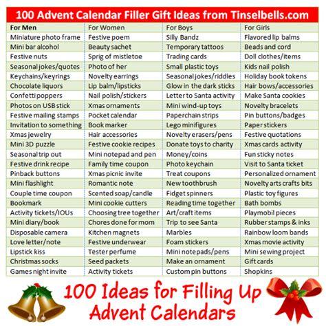 advent calendar gift ideas fillers  men women
