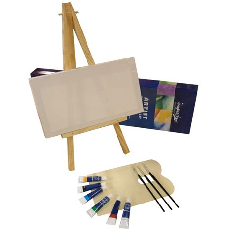 artist painting set wooden desk easel mixing palette