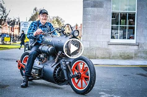 """This Steam Powered """"black Pearl"""" Motorcycle Is Any"""
