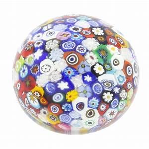 Murano Paperweights Murano Glass Millefiori Round