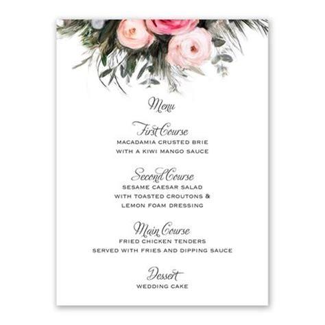 ethereal garden menu card invitations  dawn