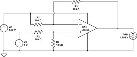 Operational Amplifier Simple Amp Setup For Current