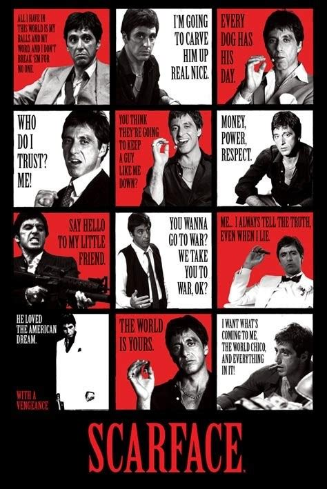 wooden signs with sayings scarface quotes poster europosters