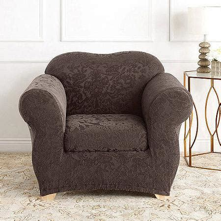sure fit stretch jacquard damask 2 chair slipcover