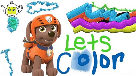 Paw Patrol Coloring Book Page Zuma Cute Pup Color For