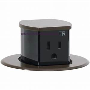 Low Profile Countertop 2 Sided Pop Up 15a Outlet  Surface