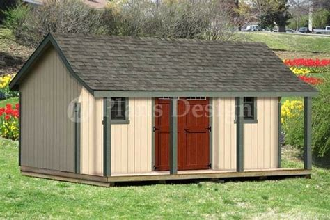 plans for wood sheds free 16x20 ft guest house storage shed with porch plans p81620