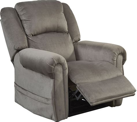 spencer pewter power lift lay flat recliner 4859 1903 28