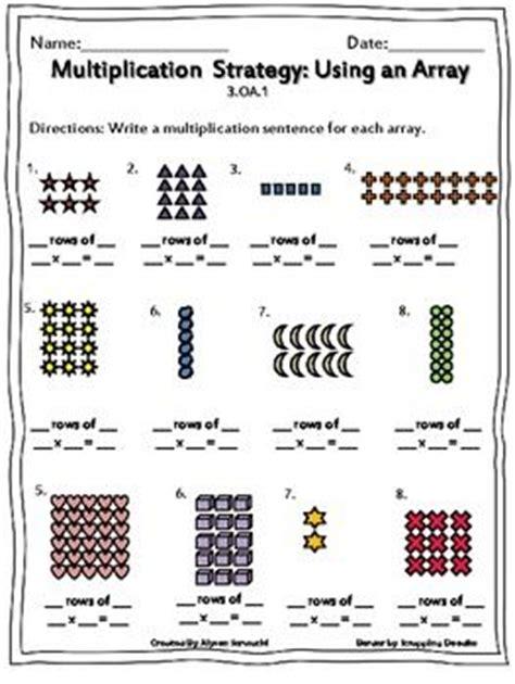 multiplication using arrays worksheets homework array