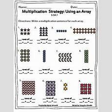 Multiplication Using Arrays Worksheets  Homework  Array Worksheets, Multiplication, Math