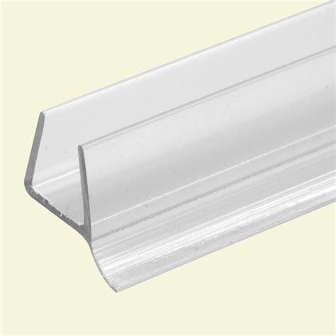 frameless shower door seal prime line 3 8 in x 36 in clear frameless shower door