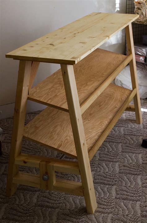 dumbbell table desk ana white