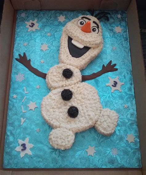 frozen olaf themed birthday cake cakecentralcom