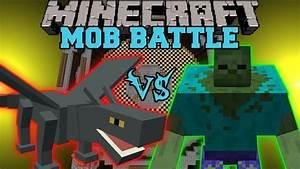 IRON DRAGON VS MUTANT ZOMBIE Minecraft Mob Battles