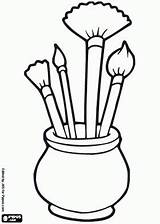 Clipart Easel Artist Kleurplaat Met Clipartmag Een Stencils sketch template