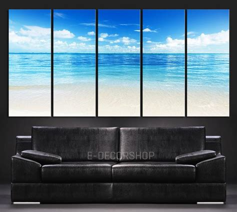 push pin map canvas large wall blue sea landscape and wall