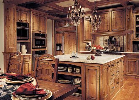 white granite  rustic hickory  knotty alder cabinets