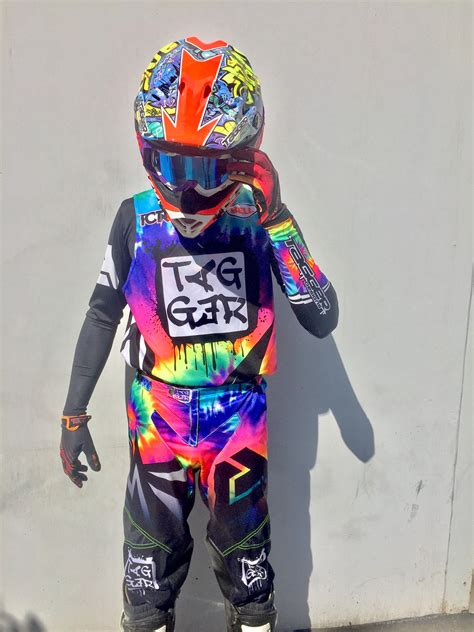 motocross gear for tagger designs quot tye dye quot motocross gear set custom
