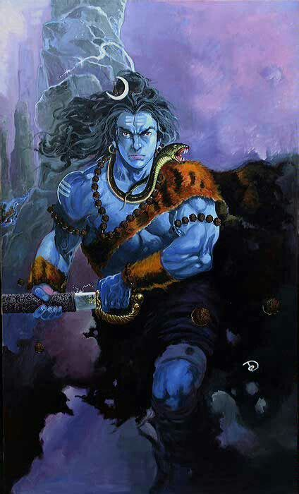 Lord Shiva Animated Wallpaper - lord shiva in rudra avatar animated wallpapers