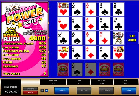 Play Double Joker Power Poker By Microgaming For Free