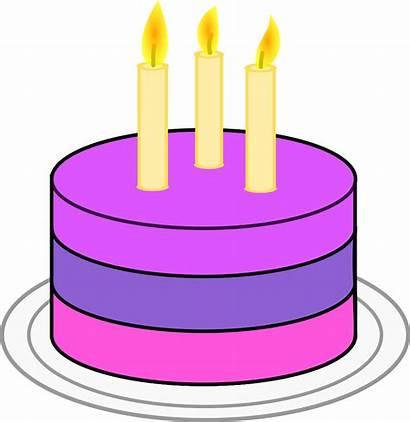 Cake Birthday Clipart Clip Candles Cartoon Transparent