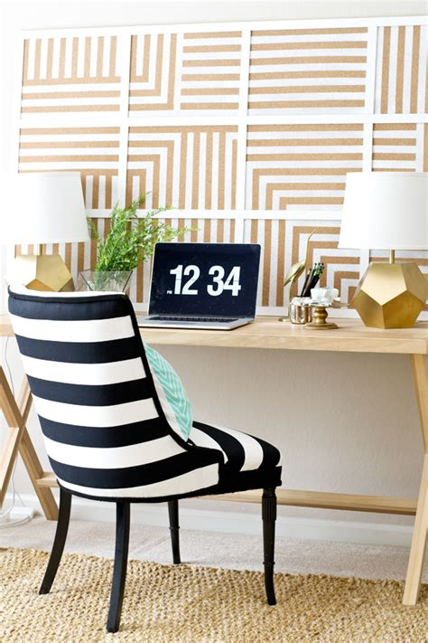 diy oversized striped corkboard infarrantly creative