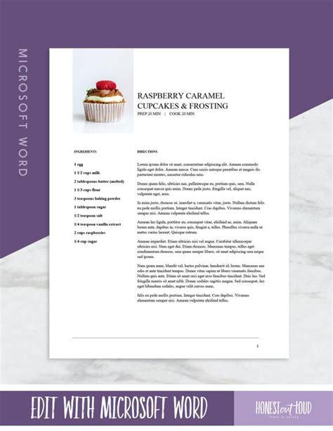Enthalten sind vorlagen für rechnungen, angebote, mahnungen und auftragsbestätigungen! Microsoft Word Rezept Vorlage druckbare US-Buchstabe 8.5 x | Etsy